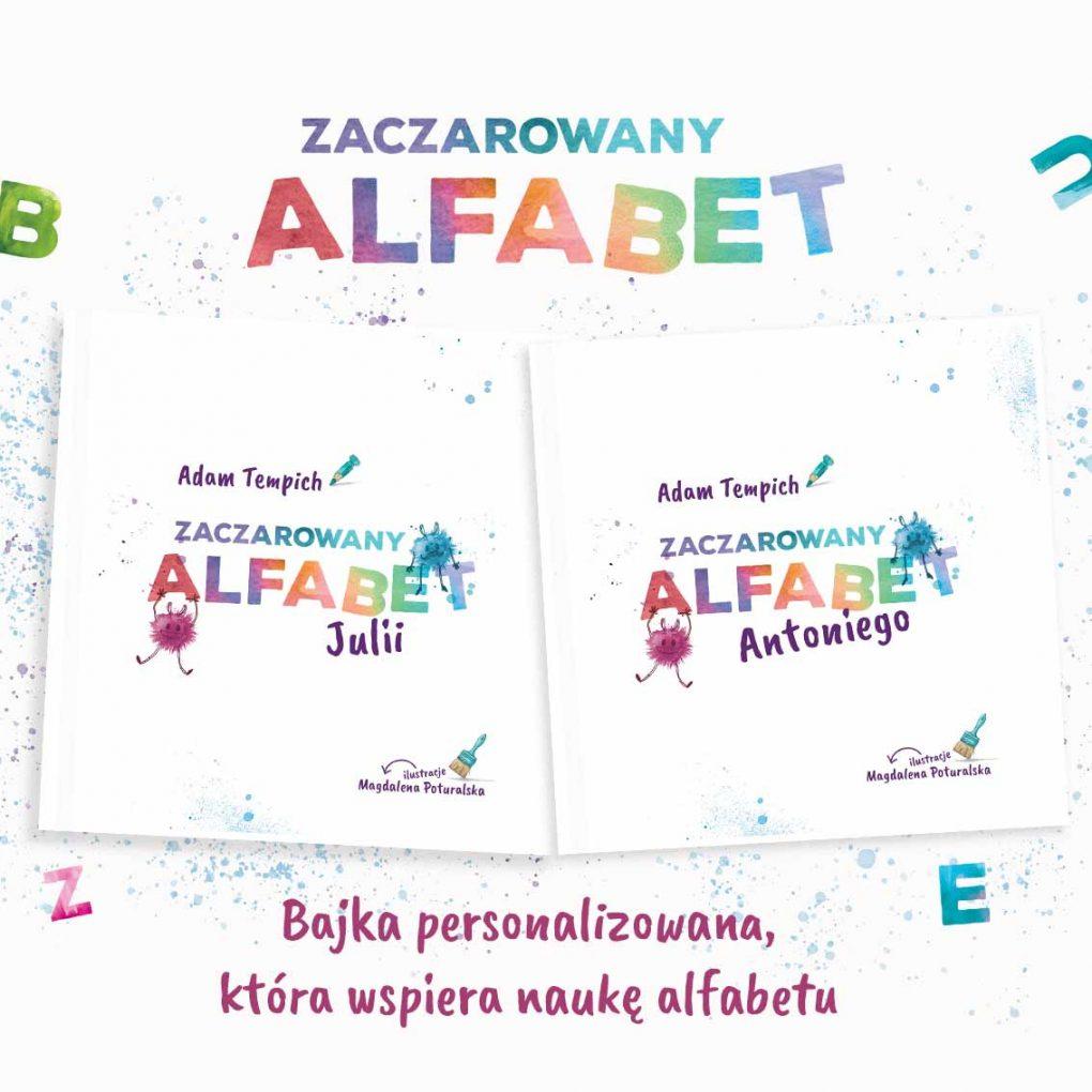 Książka dla dzieci, personalizowana bajka Zaczarowany alfabet
