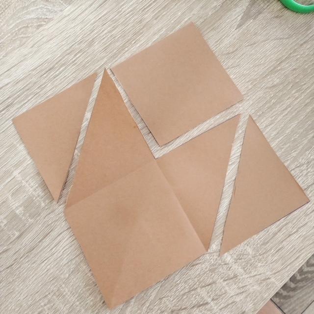 Jak zrobić prostą zakładkę do książki dla dzieci? - krok 2 - Wycinamy cześć 1,2 i 3, jak na zdjęciu poniżej.