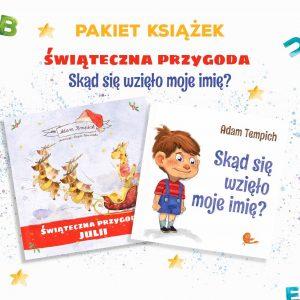 Pakiet-bajek-personalizowanych na święta - okładki książek na prezent