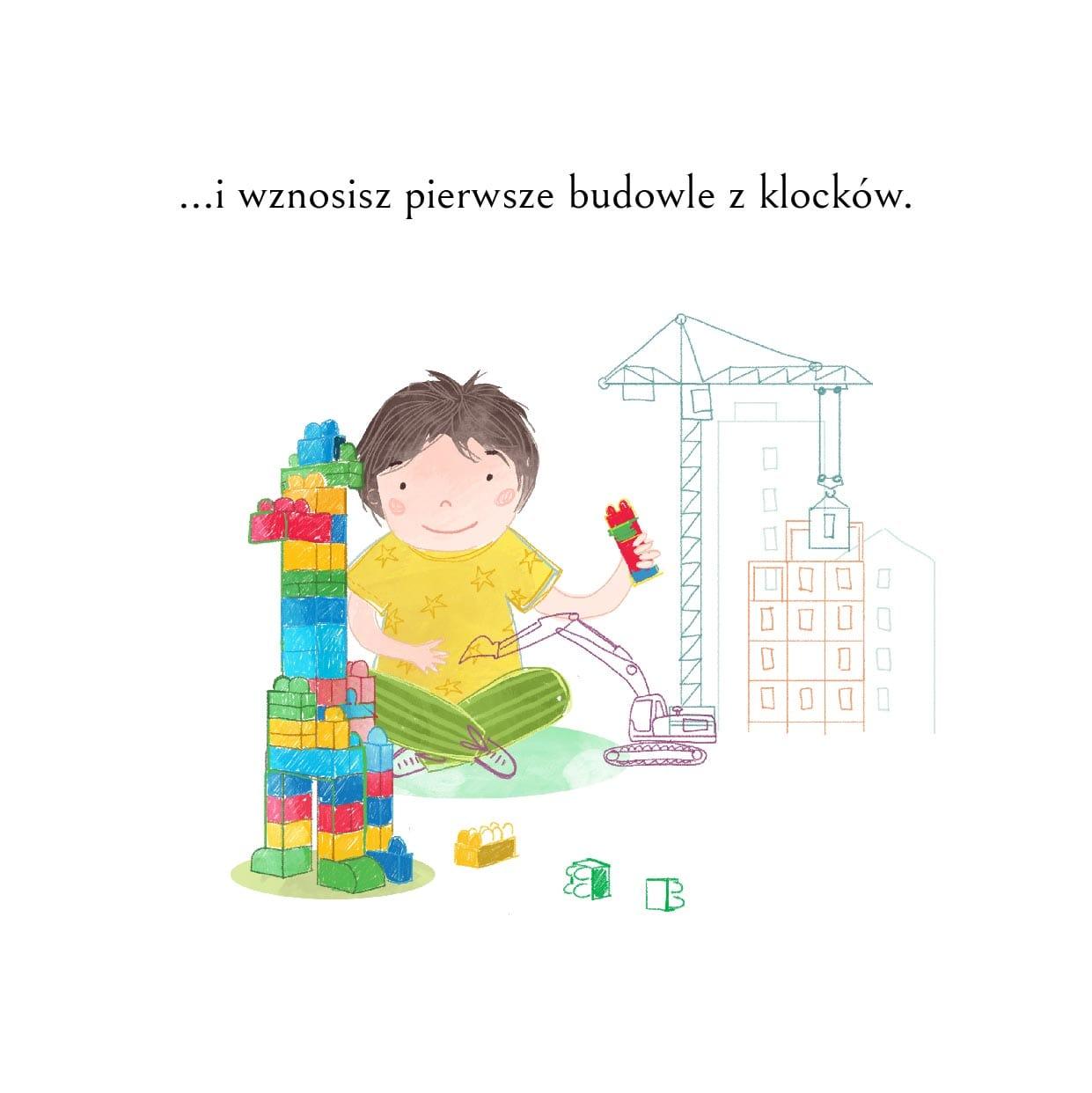 Bajka na dzień dziecka-fragment-drugi-chłopiec buduje z klocków lego