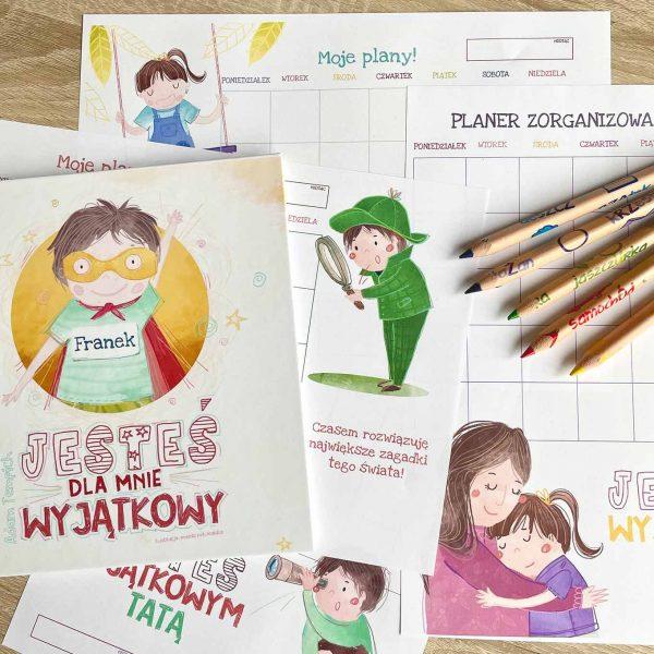 Kalendarz i zestaw planerów dla dzieci i rodziców