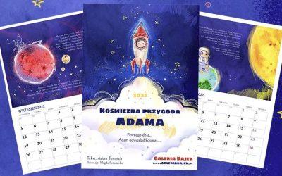 Jaki powinien być ścienny kalendarz dla dzieci? – Fragment personalizowanego kalendarza – Kosmiczna przygoda