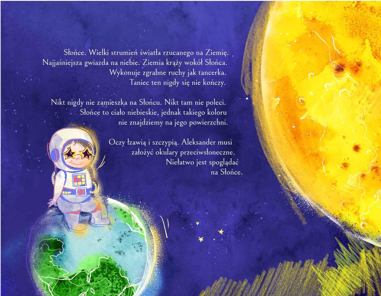 Ziemia i słońce – rysunki w kosmicznym kalendarzu dla dzieci